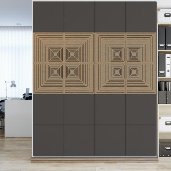 Akustická dizajnová stena